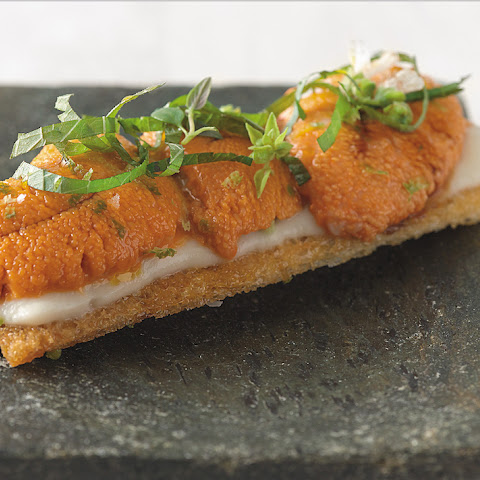 Sea Urchin Toasts With Shiso And Lime