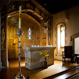 Prinknash Abbey by Clive  Rees - Buildings & Architecture Places of Worship ( available light, catholic, monk, altar, monks, church, gloucester, prinknash, abbey )