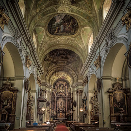 Maria Hilfers Kirche by Ole Steffensen - Buildings & Architecture Other Interior ( wien, interior, vienna, church, maria hilfers kirche, austria )