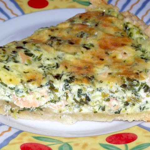 German Cake With Salmon And Chives
