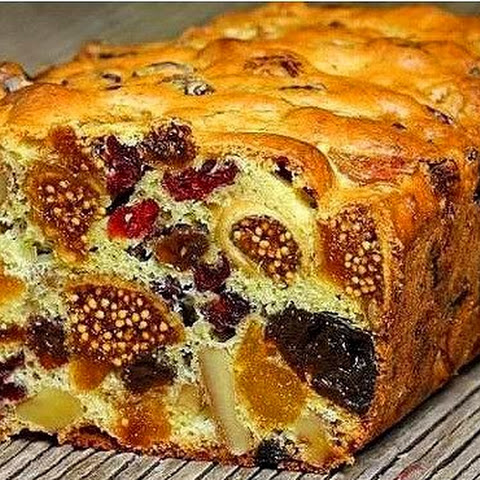 Healthy sweets ! Mazurka cake with dried fruit and nuts