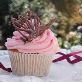 Cupcakes by Georgina Wilman - Food & Drink Cooking & Baking ( cupcake, pinks, ribbon, nanture, baking )