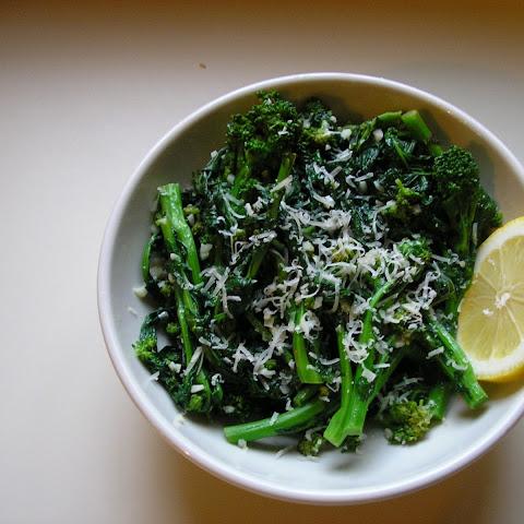 Sauteed Broccoli Rabe with Garlic and Parmesan