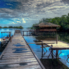 by Halim Jaya - Landscapes Travel ( clouds, water, natures, piers, indonesia, boats, travel, landscapes )