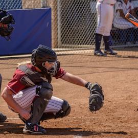 Awaiting the call by Matt Folsom - Sports & Fitness Baseball ( sierra college softball, arc, 2015 )