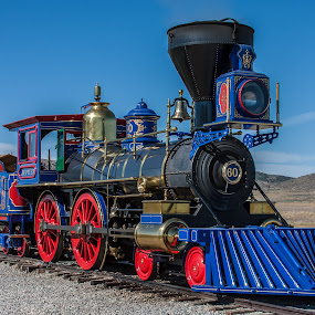 Jupiter by Craig Pifer - Transportation Trains ( golden spike national historic site, promontory, utah, railroad, train, jupiter, transportation, golden spike )