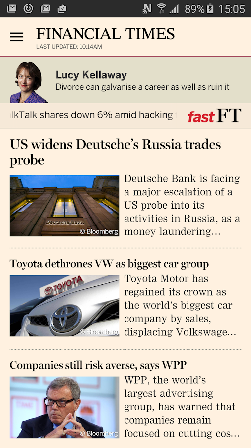 Financial Times Screenshot 0