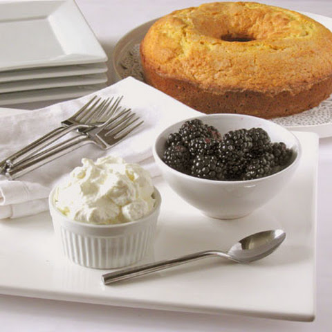A Southern Style Northern Italian Cornmeal Cake with Berries & Cream