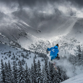 in the Air by Laky Kucej - Sports & Fitness Snow Sports