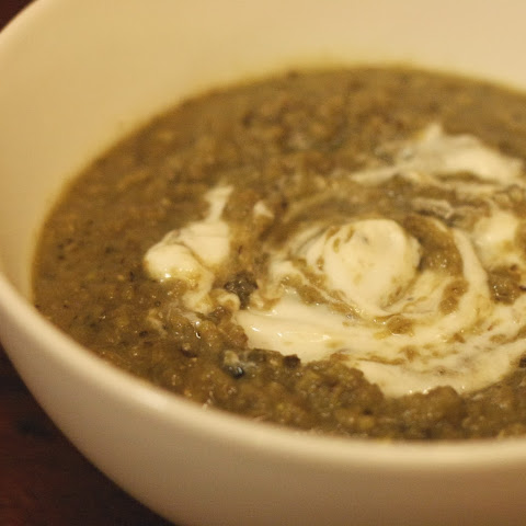 Roasted Eggplant and Lentil Soup