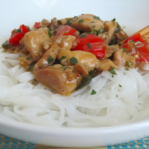 Thai Chicken with Rice Noodles