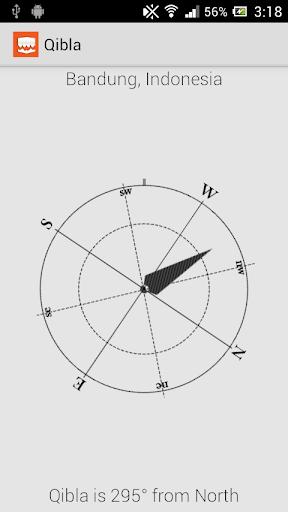 Qibla Direction Using GPS screenshot 1