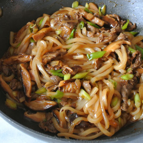 Japanese Udon With Mushroom-Soy Broth With Stir-fried Mushrooms And ...