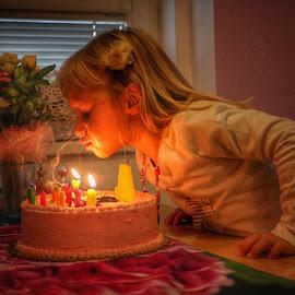 Birthday by Robert Seme - Babies & Children Child Portraits ( child, birthday, girl, children, photo, photography, portrait, photooftheday )