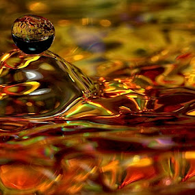 Melting Pot by Connie Publicover - Abstract Fine Art ( water, reflections, gold )