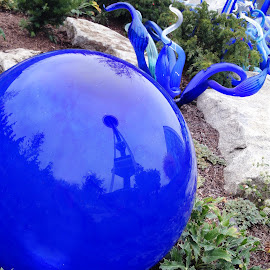 Reflection on Glass-Chihuly Seattle by Ada Irizarry-Montalvo - Artistic Objects Glass (  )