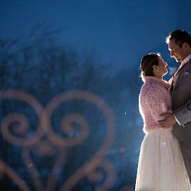 Winter Wedding by Mauro Locatelli - Wedding Bride & Groom ( mauro locatelli, romantic, wedding love, winter weddings )