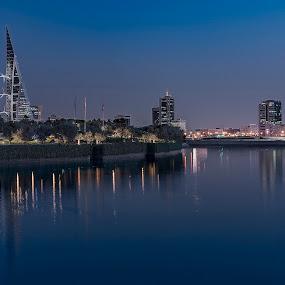 Bahrain Bay by Mike Allen - City,  Street & Park  Night ( night, cityscape, bahrain, travel )