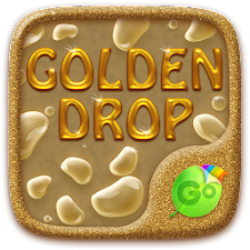 Golden Drops GO Keyboard Theme