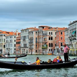 Venetian Gondola by Tomasz Budziak - City,  Street & Park  Historic Districts ( gondola, boats, venice, transportation )
