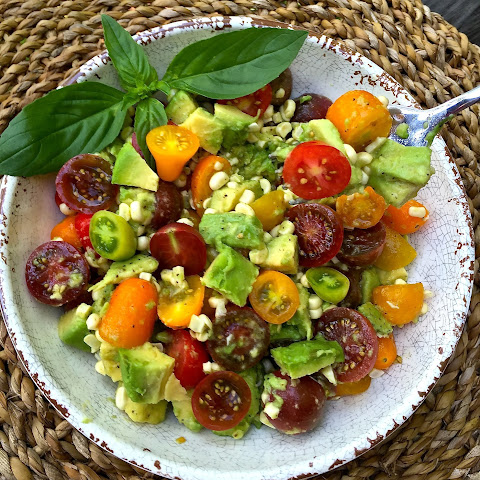 Corn, Tomato, and Avocado Salad