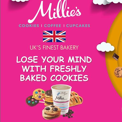 Millie's Cookies, Banjara Hills, Banjara Hills logo