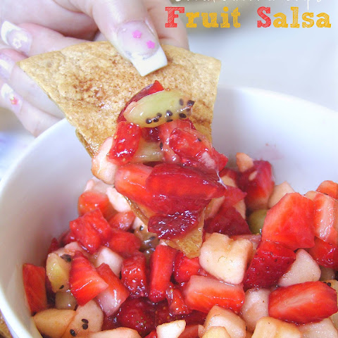 Fresh Fruit Salsa with Baked Cinnamon Chips