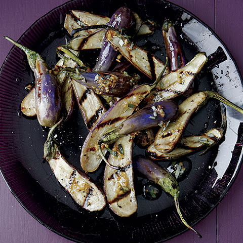 Grilled Fairy Tale Eggplant with Rosemary Garlic Oil