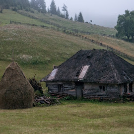 Mountain old house by Mihaela Ciulea - Buildings & Architecture Homes ( old, mountain, village, haystacks, bulding, architecture, house )