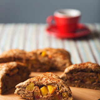 Whole Grain Lavender Peach-Stuffed Scones