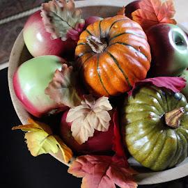 Bowl of Plenty by Lenora Popa - Public Holidays Halloween ( holiday, macro, green, fall, halloween )