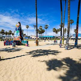 The Heartbeat of LA by Ally Skiba - City,  Street & Park  Neighborhoods ( california adventure, park, funky, venice beach, graffiti, california, art, surfers paradise, pacific ocean, venice, los angeles, beach )