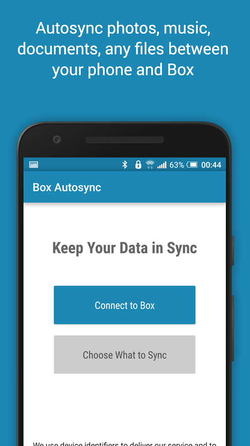 Autosync Box Cloud Storage Screenshot