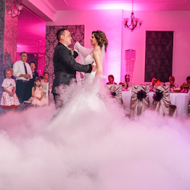 The first waltz by Vasiliu Leonard - Wedding Reception ( wedding waltz, fotograf nunta iasi, wedding, luxmariaj, wedding reception, bride, waltz, vasiliu leonard, groom )