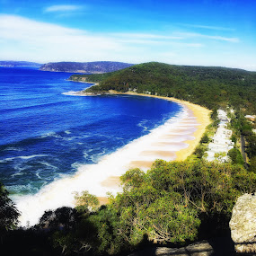 Looking out over a pearl by Amanda Daly - Landscapes Beaches