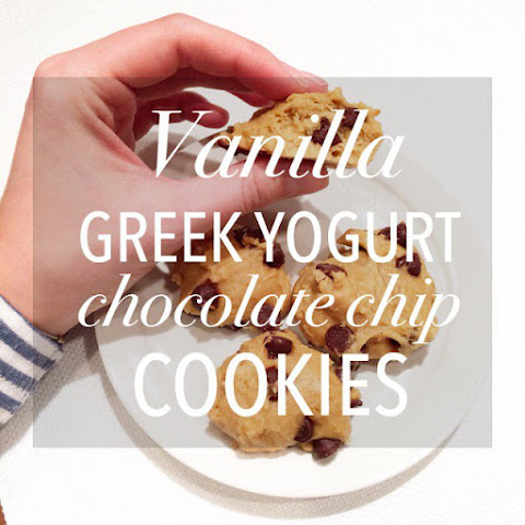 Vanilla Greek Yogurt Chocolate Chip Cookies!