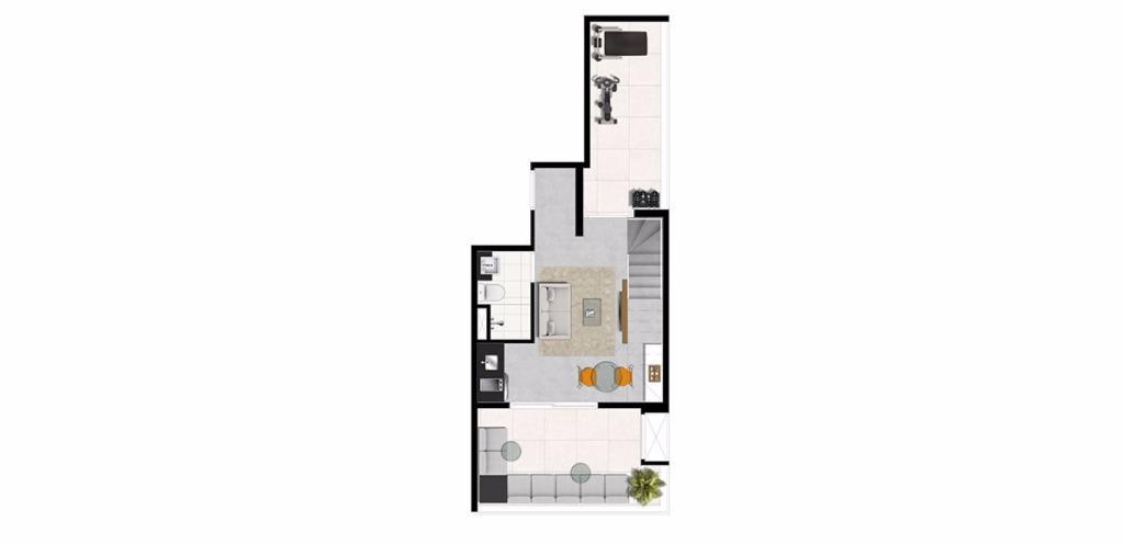 Planta Triplex Inferior 113 m²