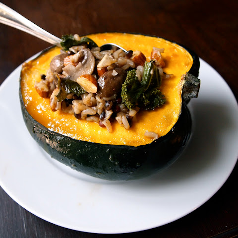 Maple Glazed Stuffed Squash