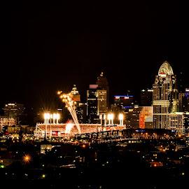 Cincinnati by Jim Freeman - City,  Street & Park  Skylines