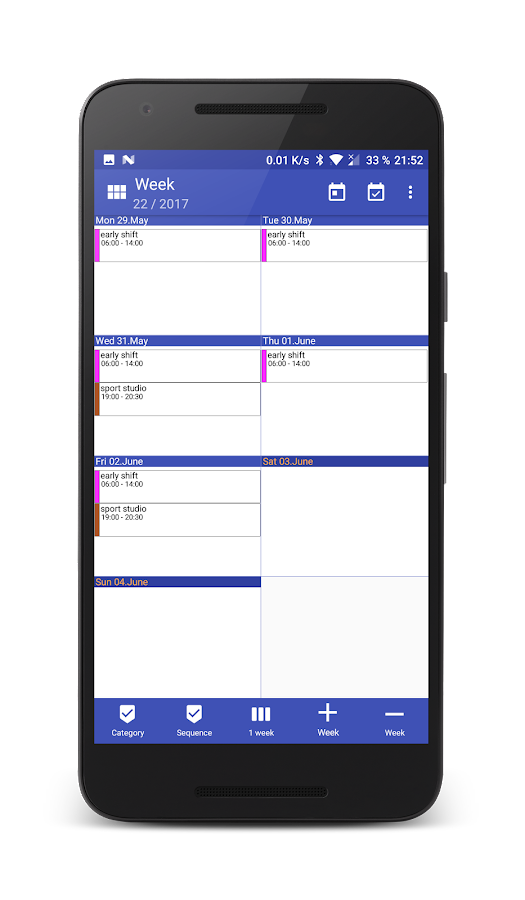 Work Calendar Screenshot 4