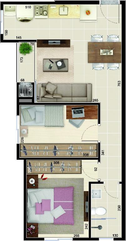 Apartamento Joinville Costa e Silva 1968010
