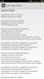 Tulus Lyrics - screenshot