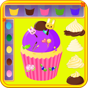 cooking games cake coloring