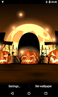 Screenshot of Halloween Live Wallpaper Light