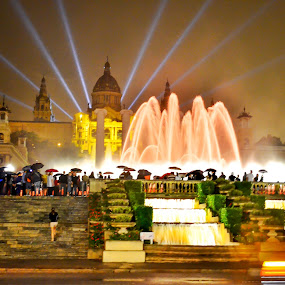 The Magic Fountain of Montjuïc by Kyen Ang - City,  Street & Park  Fountains