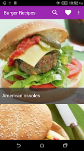Burger Recipes - screenshot
