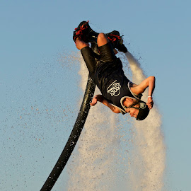 FlyBoarder by Jeannette Thalmann-Bendeth - Sports & Fitness Watersports ( sws, sparrow lake, flyboard, summer, lake, summertime )