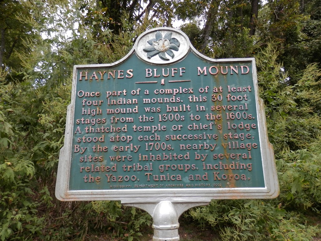 Once part of a complex of at least four Indian mounds, this 30 foot high mound was built in several stages from the 1300s to the 1600s. A thatched temple or chief's lodge stood atop each successive ...