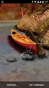 3D Boat Scenery Live Wallpaper - screenshot