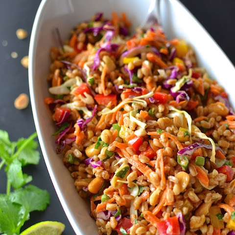 Rainbow Thai Farro Salad
